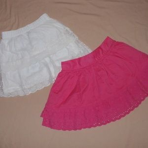 2 Carters Cherokee Girls Skirts Lace Cotton 7 8